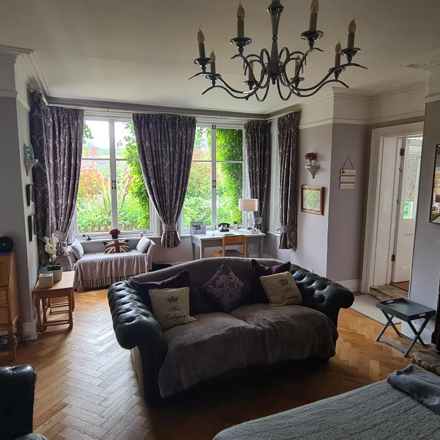 Lounge Living Room Large Windows Chandelier