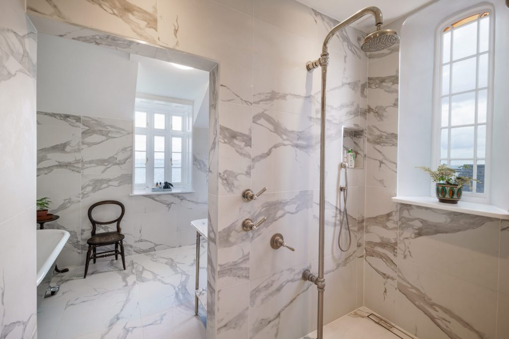 Shower, Marble
