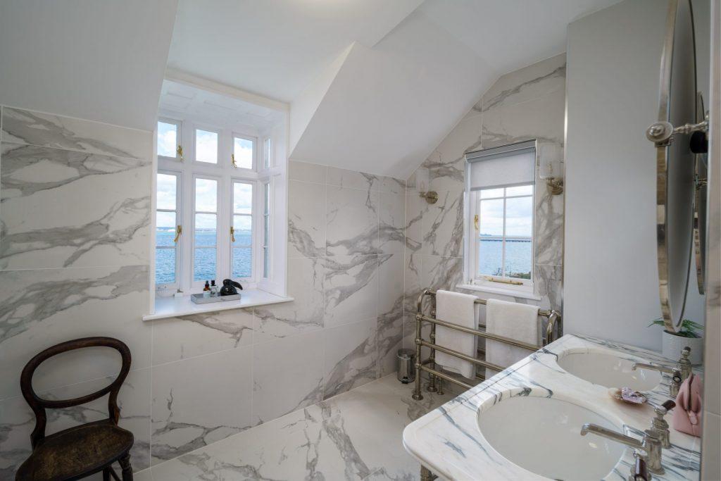 Bathroom, Marble, Sea View