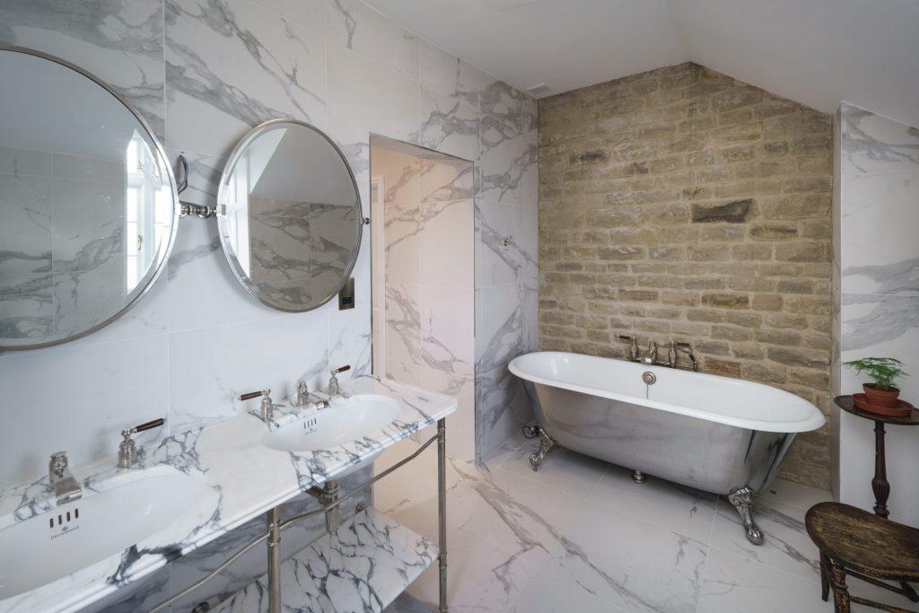 Bathroom, Marble, Brickwall