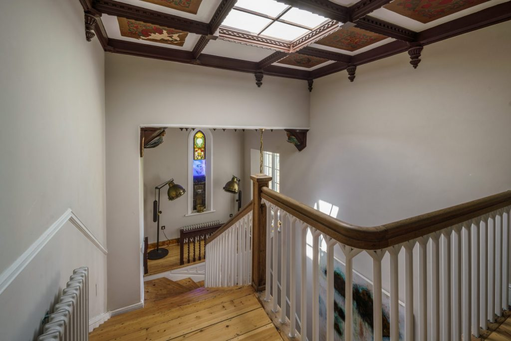Hall Way, Roof Lantern, Stained Glass